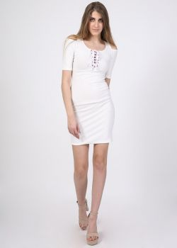 Arte Piedi Φόρεμα Λευκό